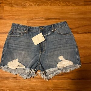 KanCan | High Rise Distressed Jean Shorts | 13
